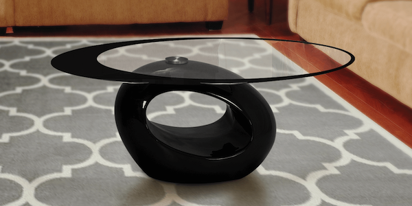 Glass coffee table with storage is best for smaller space